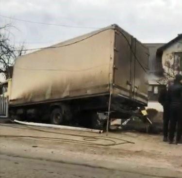 На Тячівщині сталася аварія за участі фури