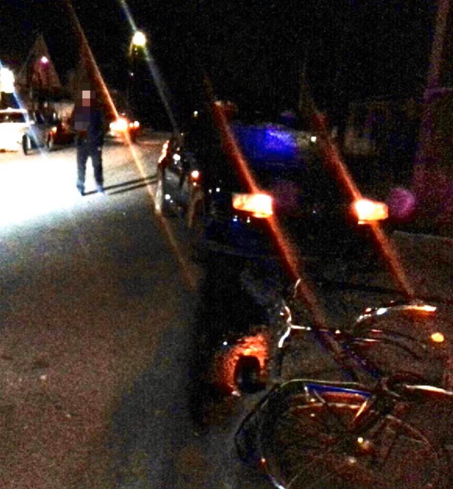 На Виноградівщині велосипедист потрапив під колеса автомобіля