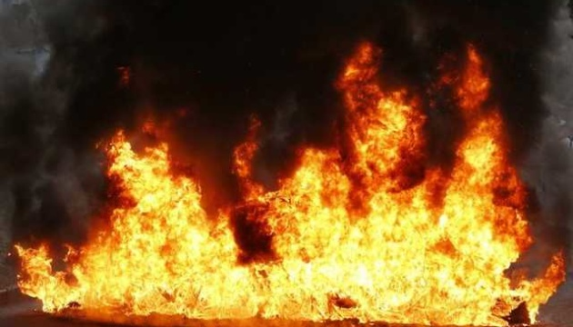 Під час пожежі сильно постраждав чоловік