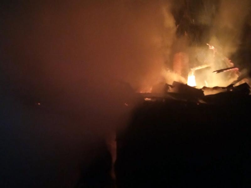 Ввечері загорілась лазня, в якій відпочивали люди