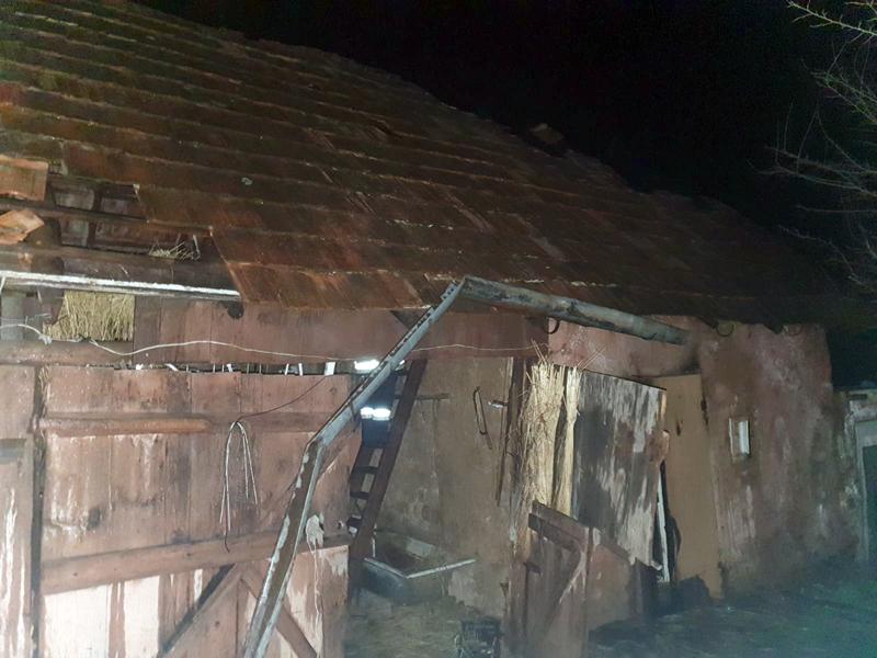 У Мукачівському районі ввечері спалахнула пожежа