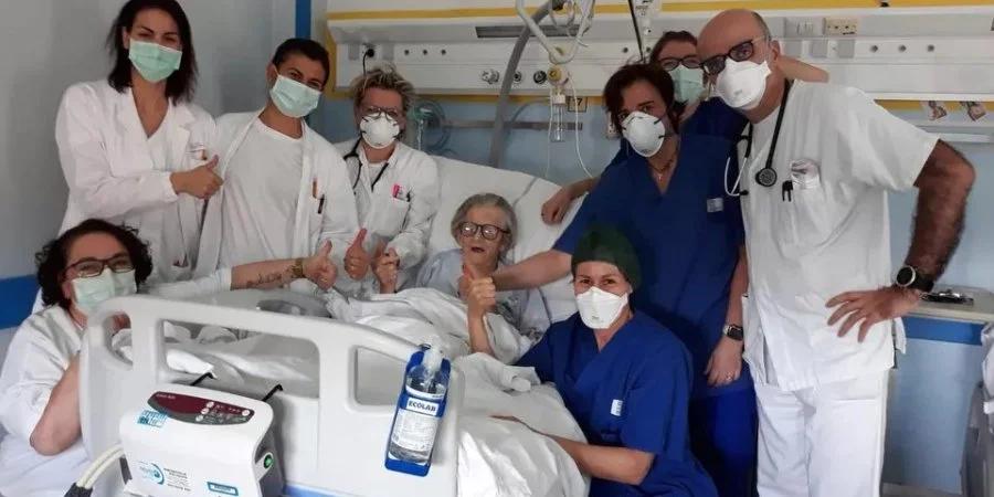 95-річній італійці вдалося подолати коронавірус