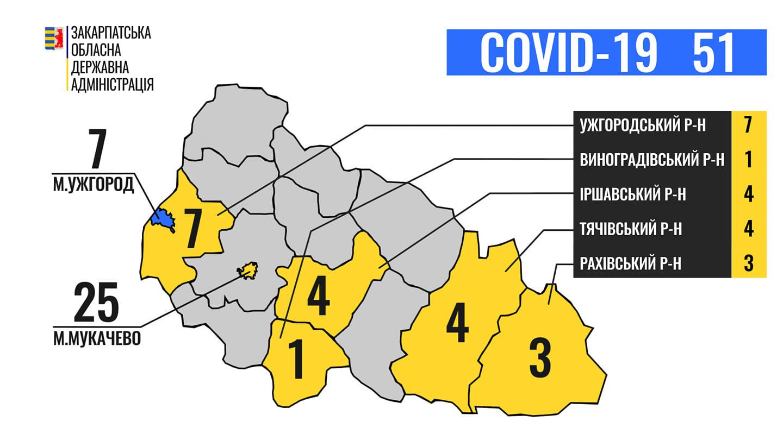 Де у Закарпатті хворіють на коронавірус: карта поширення