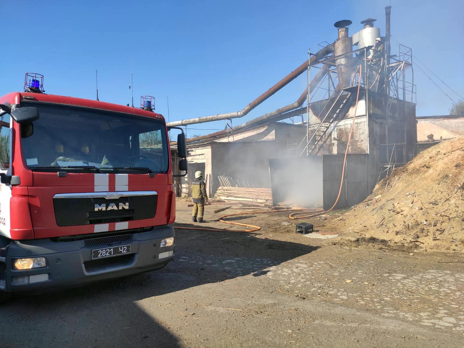 На одному із підприємств Ужгорода трапилась пожежа