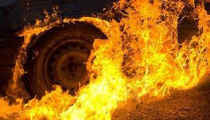 Ввечері на Ужгородщині горіла машина