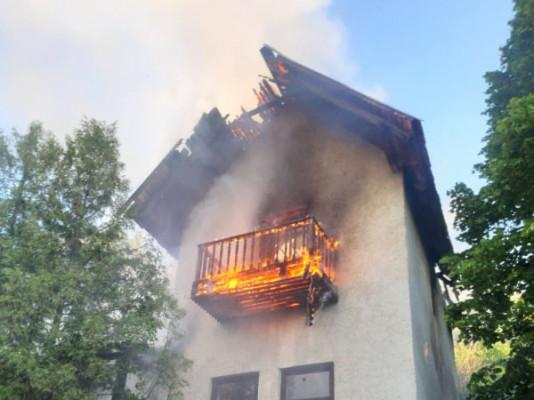 Сьогодні на одній із вулиць Мукачева спалахнула пожежа