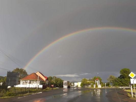 На Іршавщині сфотографували неймовірну веселку