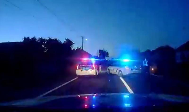 Погоня у Ракошині закінчилась аварією: оприлюднено відео