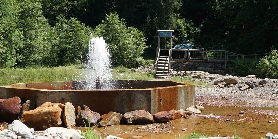 На Закарпатті облаштували єдиний в Україні гейзер мінеральної води