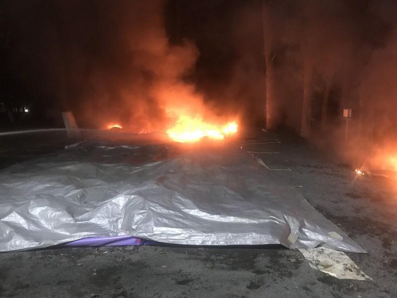 Рятувальники розповіли про пожежу, яка вночі вирувала в Ужгороді