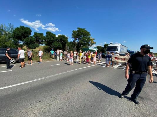 Обурені селяни перекрили трасу Київ-Чоп на Ужгородщині