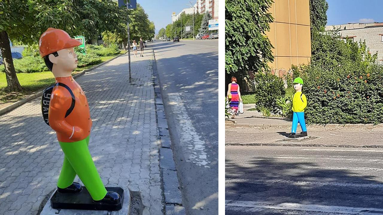 На пішохідному переході встановили манекени-попередження: що про це думають люди