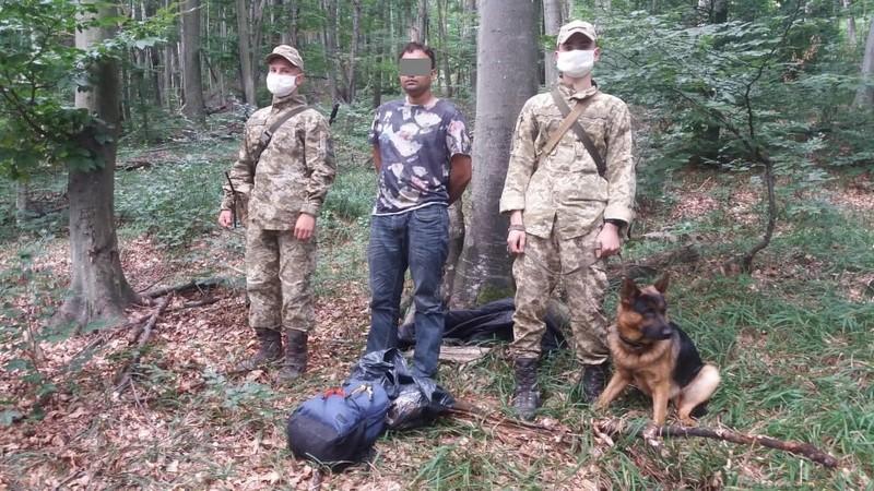 Прикордонники затримали у лісі нелегала