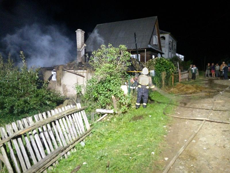 На Міжгірщині коротке замикання призвело до пожежі
