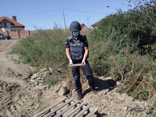 Закарпатські піротехніки знищили два вибухонебезпечні предмети