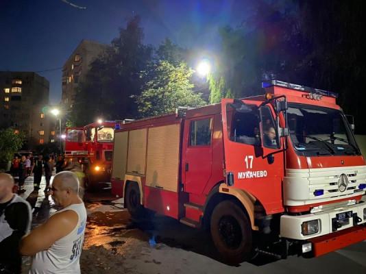 Рятувальники розповіли про пожежу в одній із багатоповерхівок Мукачева