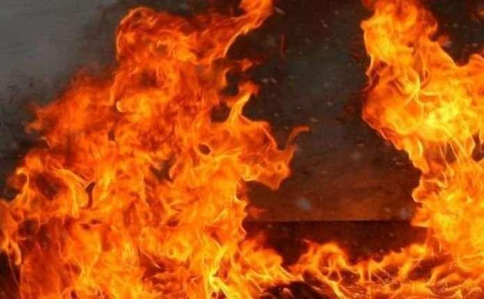 На Хустщині ввечері виникла пожежа