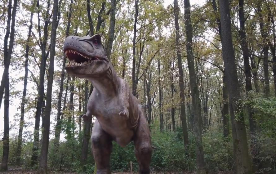 """Як виглядають динозаври у """"DinoPark Берегово"""": опубліковано відео"""