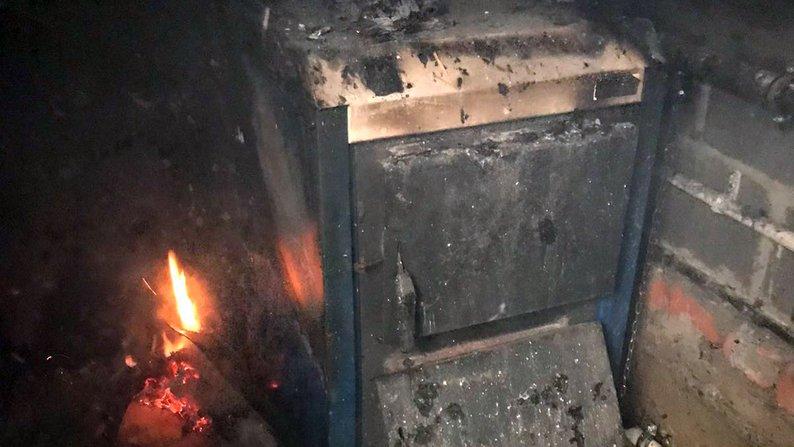На території магазину загорілась котельня