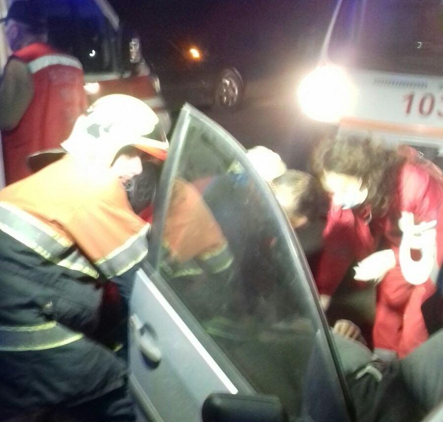 Рятувальники оприлюднили фото з аварії на Хустщині