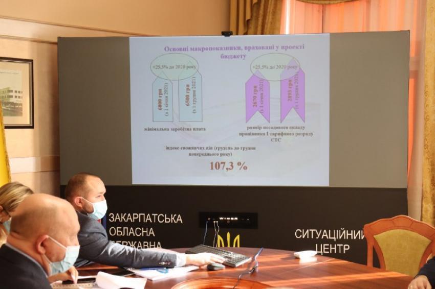 В Закарпатській ОДА презентували проєкт обласного бюджету на 2021 рік: основні цифри