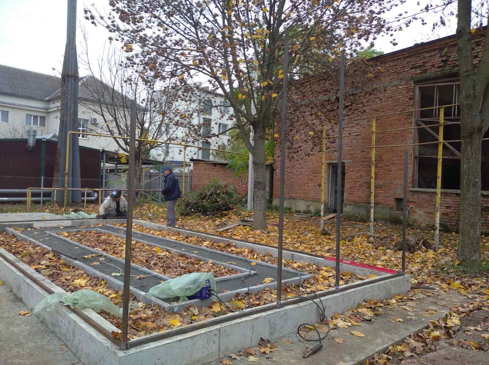 В одній зі шкіл Мукачева будують ботанічний сад