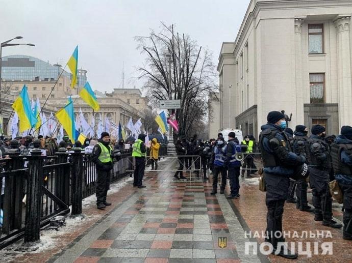 Верховна Рада сьогодні,: під стінами протестують підприємці з усієї України