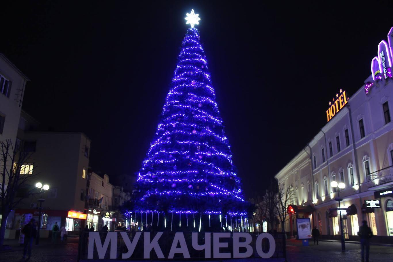 Головну ялинку Мукачева запалюватимуть онлайн