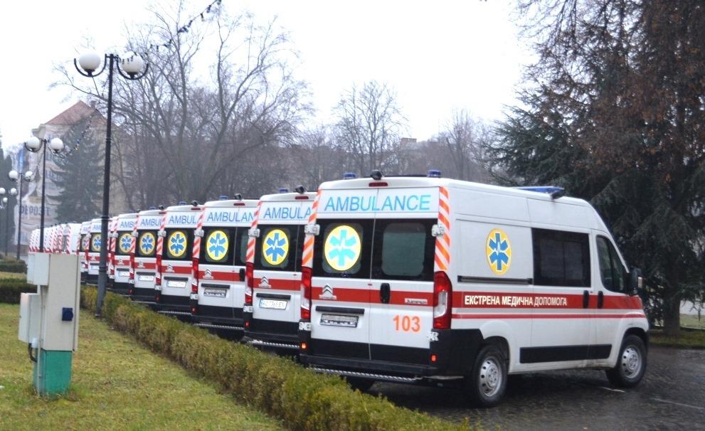 Медики Закарпаття отримали 20 сучасних автомобілів швидкої медичної допомоги