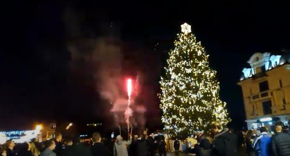 Як Ужгород зустрічав Новий рік: оприлюднено відео