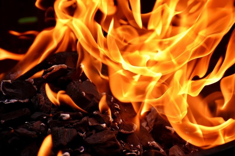 Вночі загорілась сауна