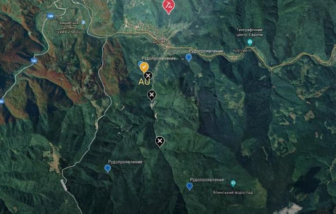 Блогер назвав село на Закарпатті, де знайшов золото, та показав місця на карті