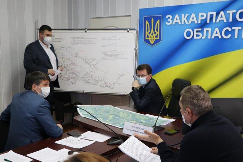 У Закарпатській ОДА розробляли стратегію дорожнього кільця, яке з'єднає три області