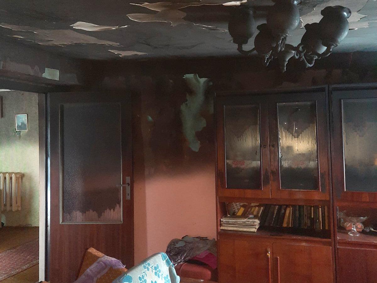 У будинку старенької жінки трапилась пожежа