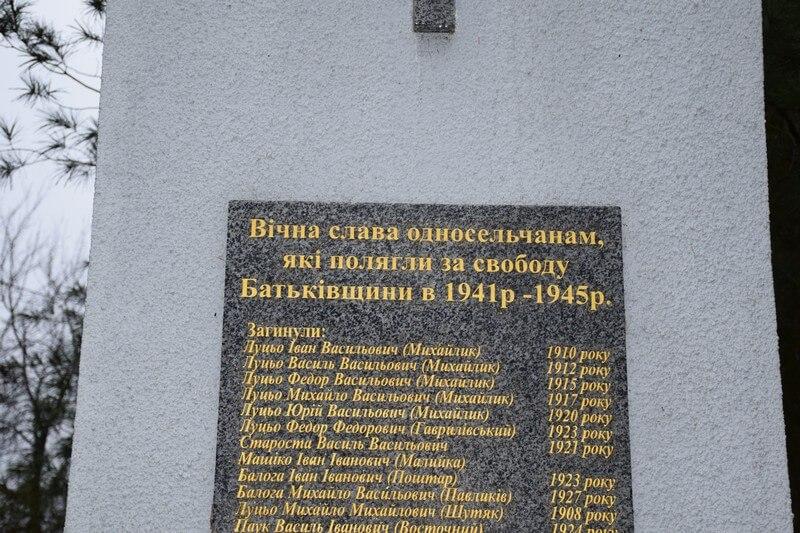 Облагородили меморіал у Завидові