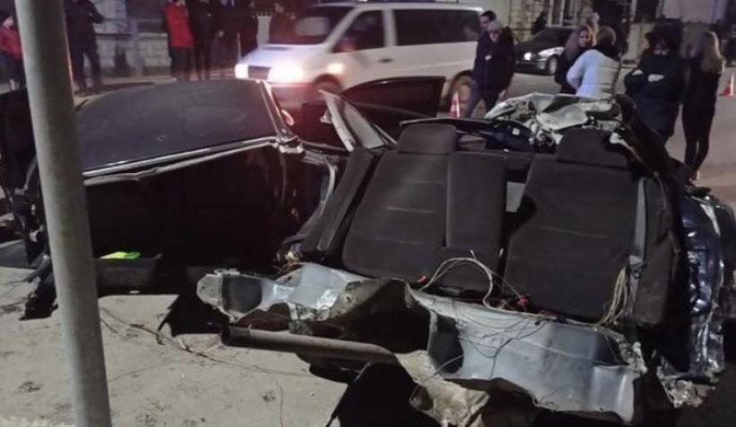 Шалена швидкість, ревіння моторів та ДТП: у мережі оприлюднено відео моменту аварії у Хусті