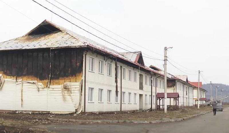 Журналісти показали наслідки великої пожежі, яка вирувала у селі