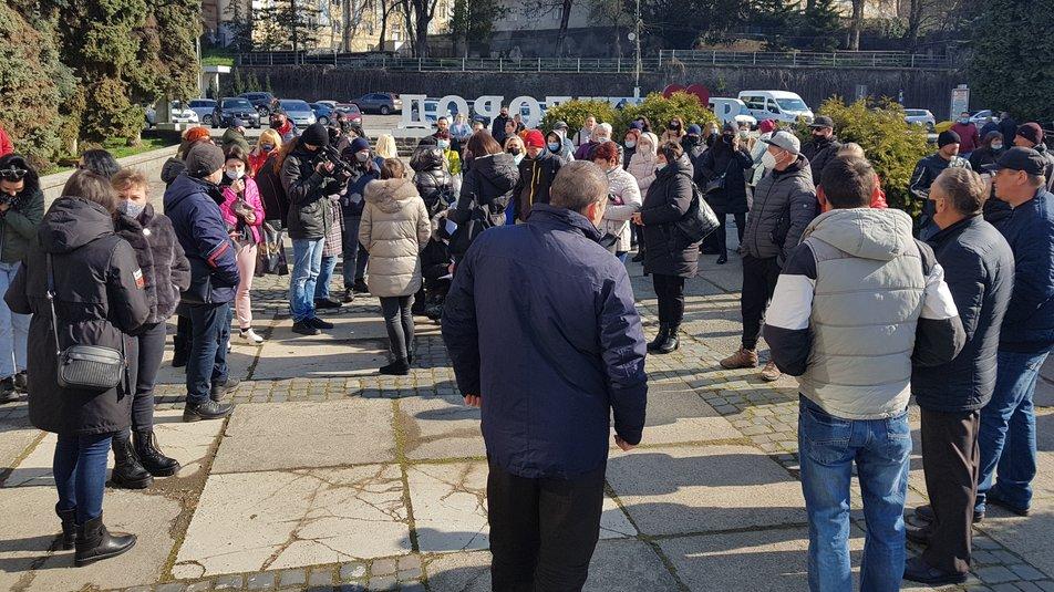 Підприємці Ужгорода вийшли на протест
