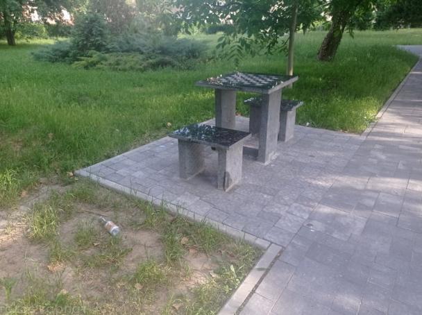 Вандали наробили біди у парку Мукачева. ФОТО