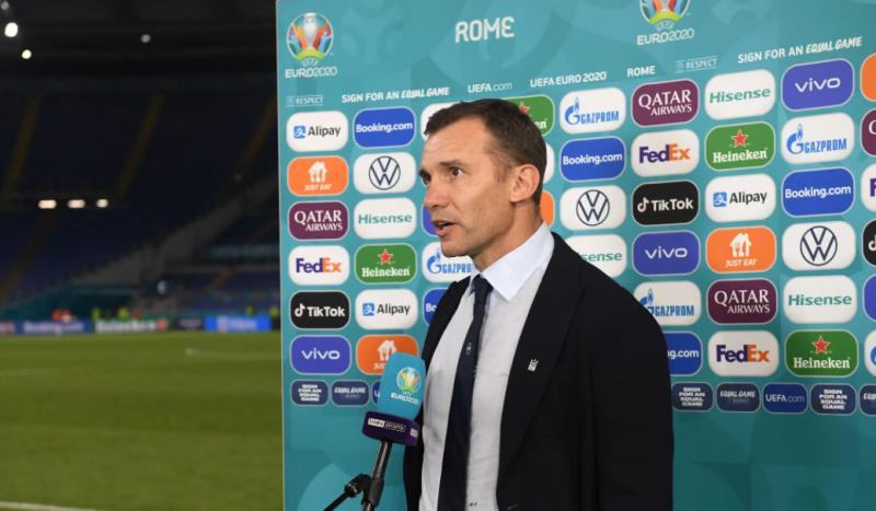 Андрій Шевченко прокоментував поразку в чвертьфіналі Євро-2020