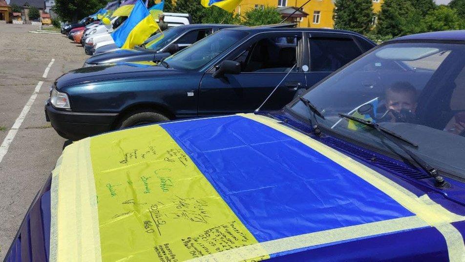 У Мукачеві автопробігом відзначили 99 річницю створення 128-ої бригади