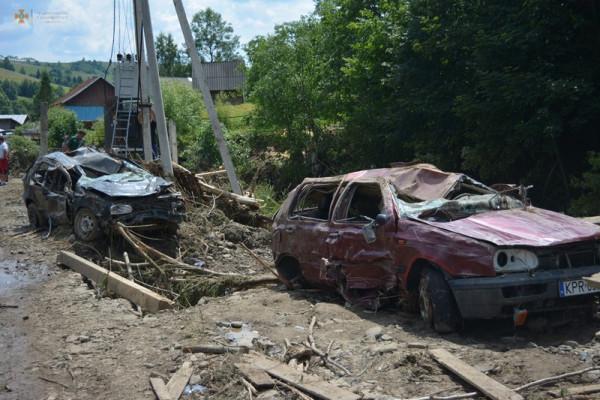Рятувальники показали наслідки негоди на Рахівщині