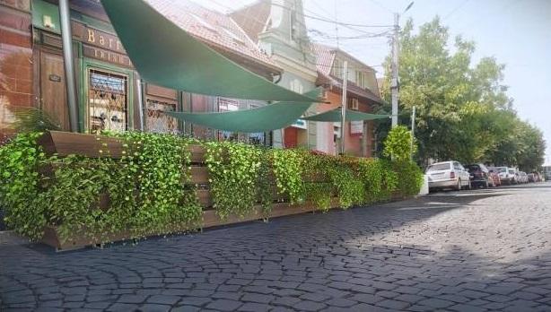 В Мукачеві біля одного із закладів встановили парклет: що це таке?