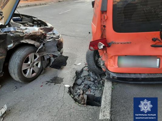 Зранку у Мукачеві сталася аварія