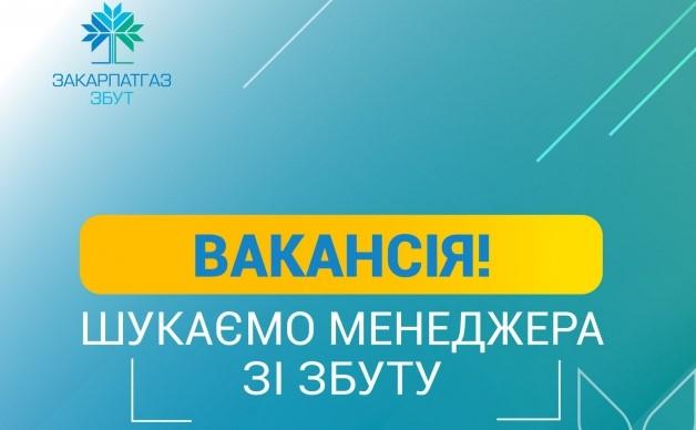 """ТОВ """"Закарпатгаз Збут"""" шукає менеджерів в Ужгороді, Виноградові та Тячеві"""