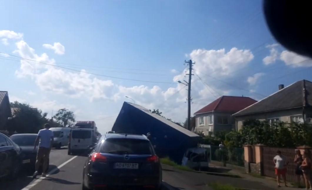 Велика ДТП у Ракошині: відео з місця аварії