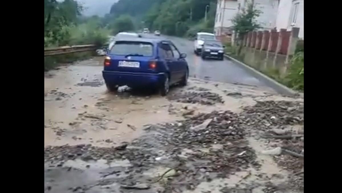 В одному з міст області злива наробила біди: опубліковано відео