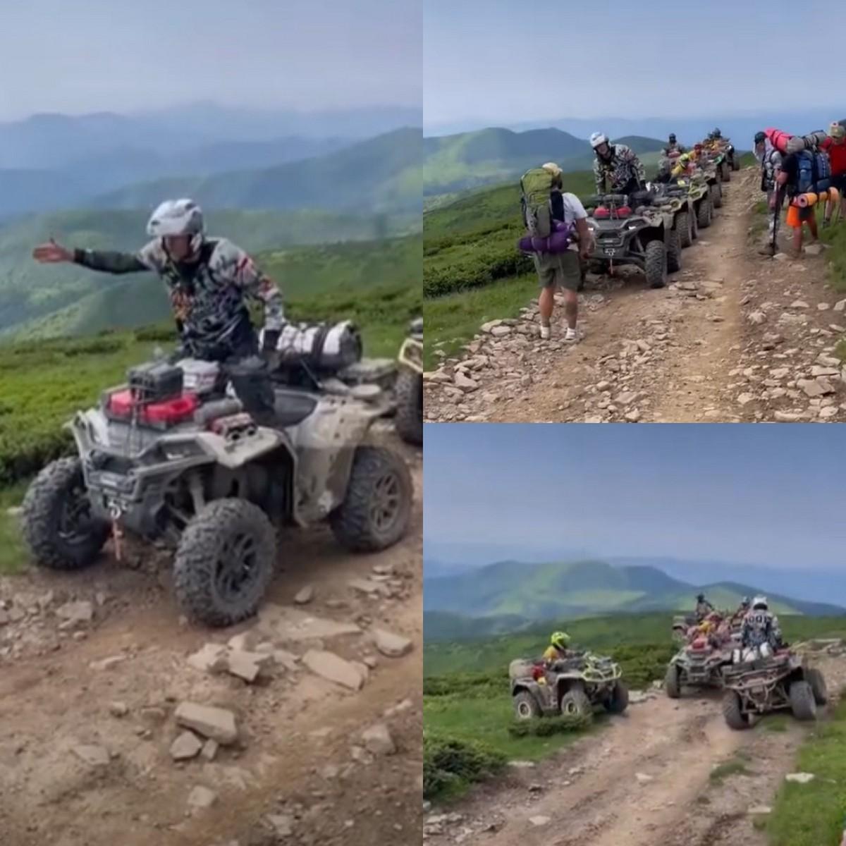 Активісти не пустили польських туристів на квадроциклах на Петрос