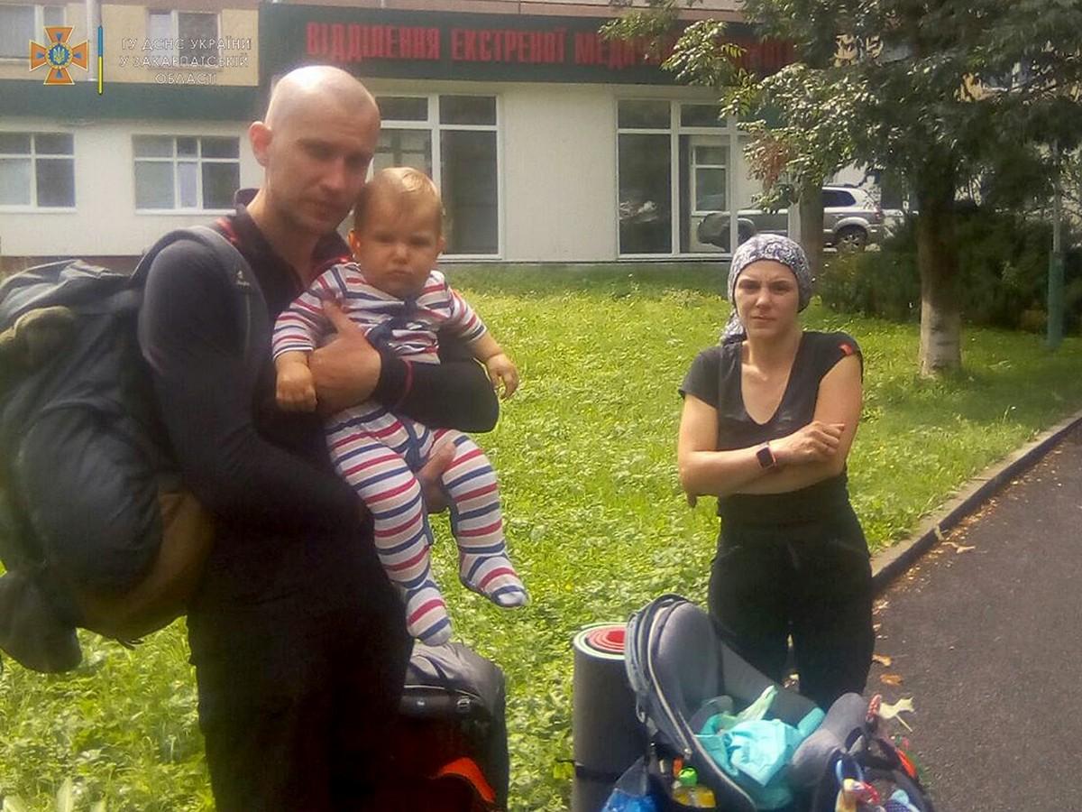 У горах заблукала сім'я з немовлям
