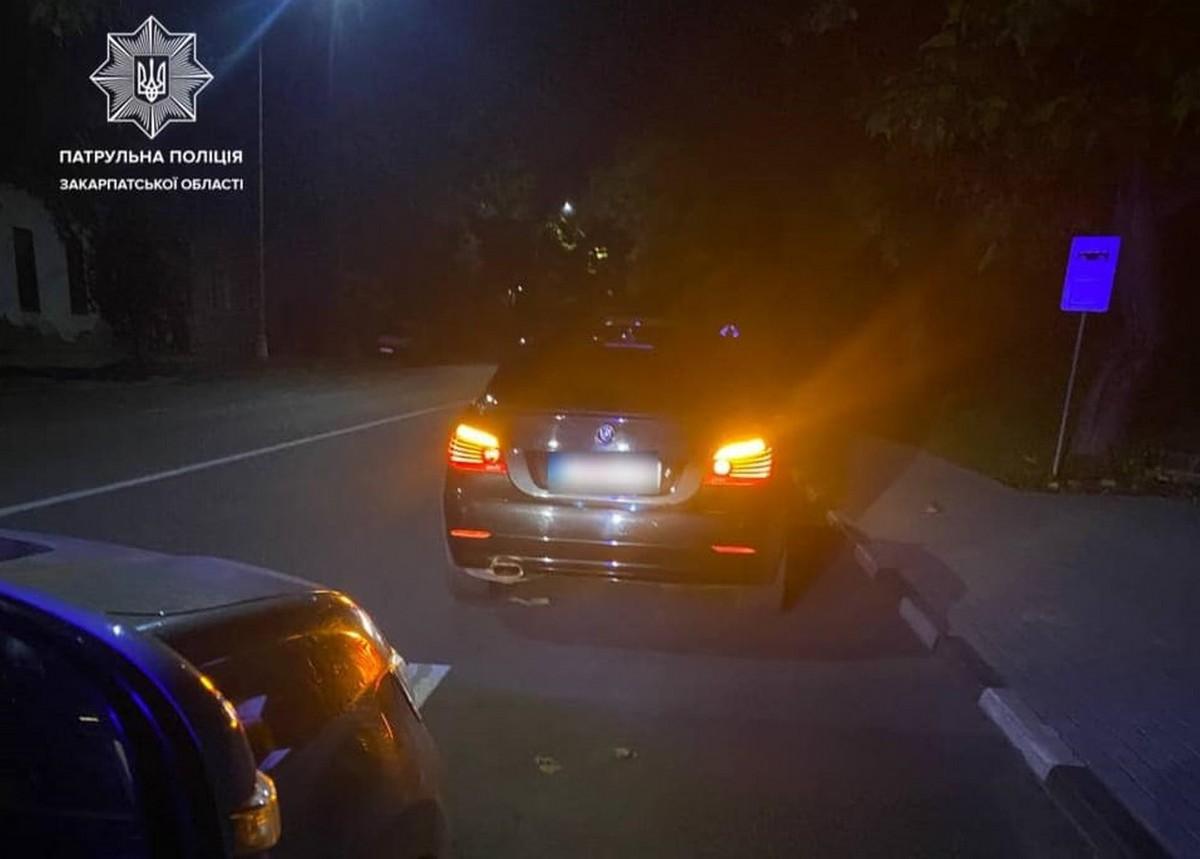 Патрульні розповіли, що утнув водій в Ужгороді